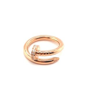 Cartier juste un clou 18k rose gold diamonds ring
